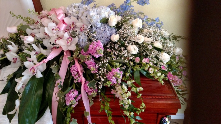 Splendid Grace Casket Spray from Kelley's Florist in Lake Placid, FL