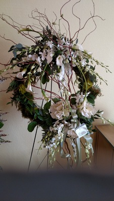 Grapevine Sympathy Wreath from Kelley's Florist in Lake Placid, FL