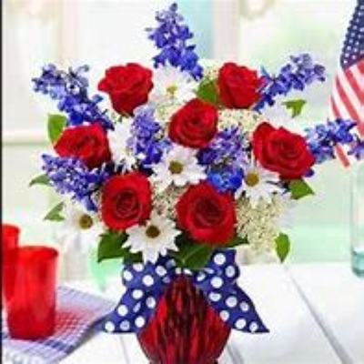 4th of July Bouquet from Kelley's Florist in Lake Placid, FL