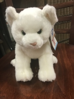 White Cat Plush from Kelley's Florist in Lake Placid, FL