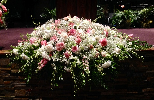 Blooms of Love Casket Spray from Kelley's Florist in Lake Placid, FL