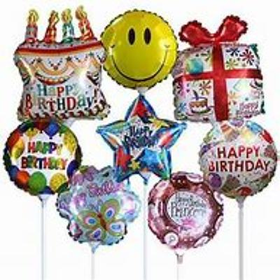 Happy Birthday Balloon Mylar on a stick from Kelley's Florist in Lake Placid, FL