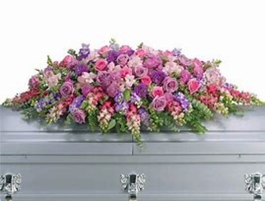 Heaven awaits Casket Spray from Kelley's Florist in Lake Placid, FL