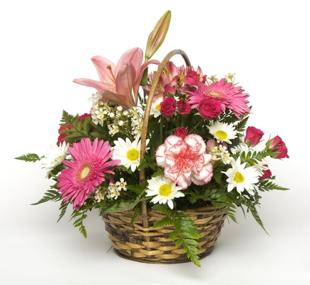 Perfectly Pink Basket from Kelley's Florist in Lake Placid, FL