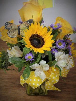 Sunflower Mixed  Bouquet from Kelley's Florist in Lake Placid, FL