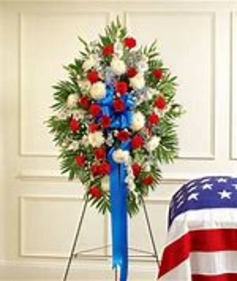 Red, White and Blue Standing Spray from Kelley's Florist in Lake Placid, FL