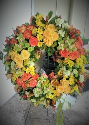 Deepest Sympathy Wreath from Kelley's Florist in Lake Placid, FL